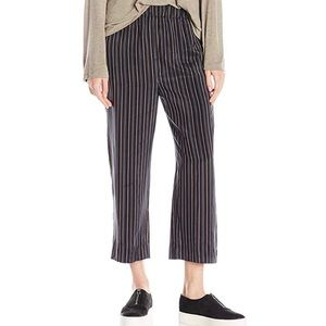 Vince Stripe Slouchy Pull-On Crop Pants sz L